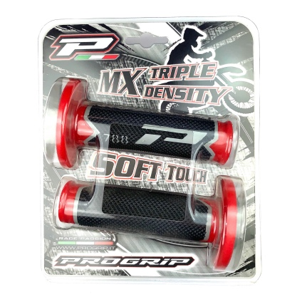 PRO-GRIP 788 GRIPS GREY/RED/BLACK