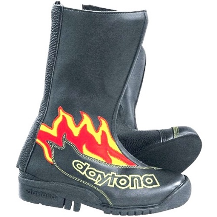 DAYTONA SPEED YOUNGSTER BOOTS - BLACK-FLAME 34