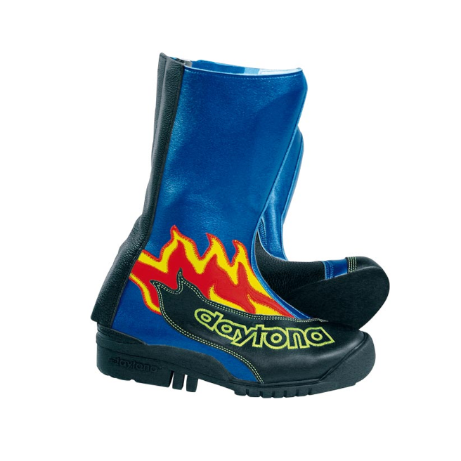 DAYTONA SPEED YOUNGSTER BOOTS - BLACK-BLUE 34