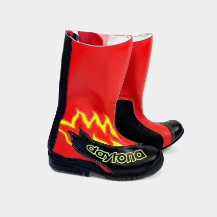 DAYTONA SPEED YOUNGSTER BOOTS - BLACK-RED 34