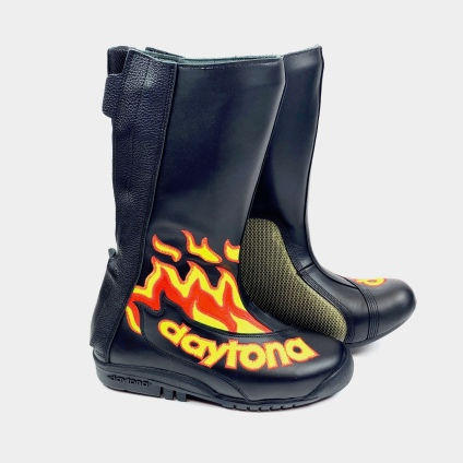 DAYTONA SPEED MASTER II BOOTS - BLACK-FLAME 38