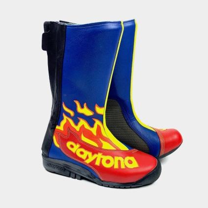 DAYTONA SPEED MASTER II BOOTS - BLUE FLAME-RED 38