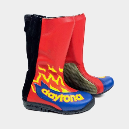 DAYTONA SPEED MASTER II BOOTS - RED FLAME-BLUE 38