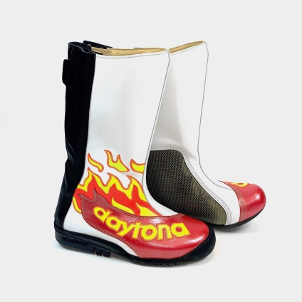 DAYTONA SPEED MASTER II BOOTS - RED-WHITE-FLAME 38