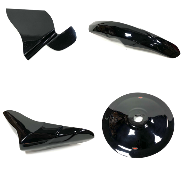 GPM 4 PIECE SET FIBREGLASS - BLACK