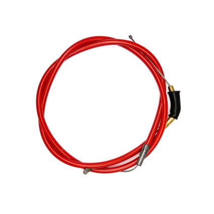 VENHILL FEATHERLIGHT THROTTLE CABLE FOR DELLORTO/BZ BLACK SLIDE CARB & MAGURA/JOKER THROTTLE - RED