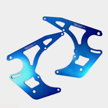 SET TALON TEP03X ENGINE PLATES BLUE