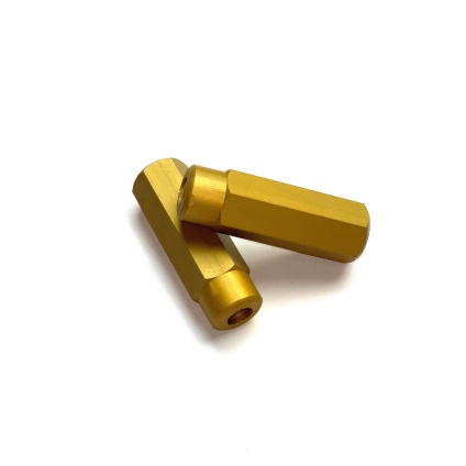 ALLOY WHEEL ADJUSTER NUTS - GOLD