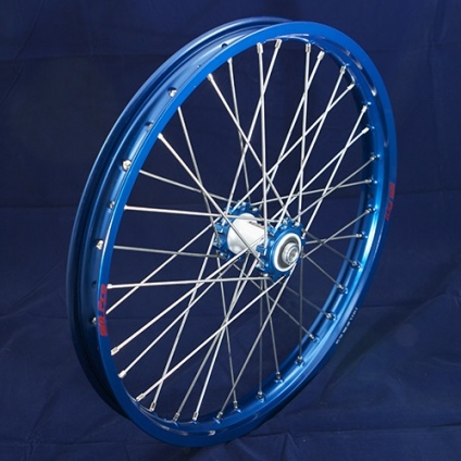 "19"" Front Wheel JR with Blue Rim and Blue Hub"