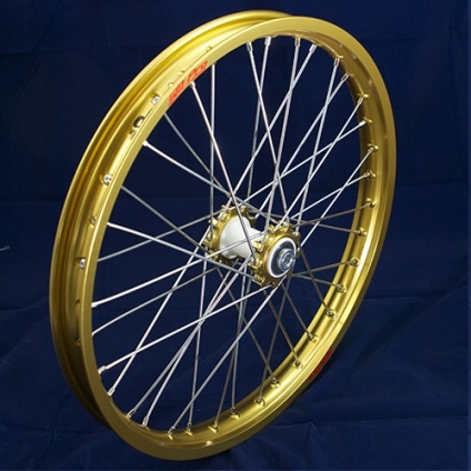 "19"" Front Wheel JR with Gold Rim and Gold Hub"