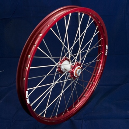 "19"" Front Wheel JR with Red Rim and Red Hub"
