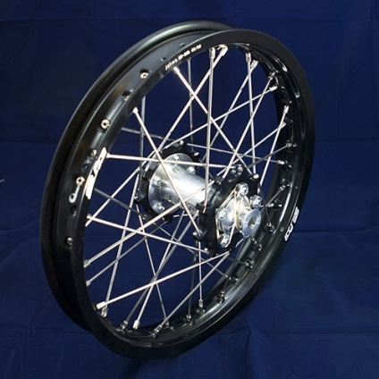 "17"" Rear JR wheel with Black Rim & Black Hub"