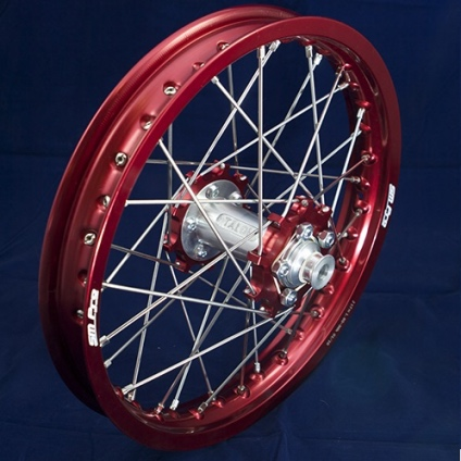 "17"" Rear JR wheel with Red Rim & Red Hub"