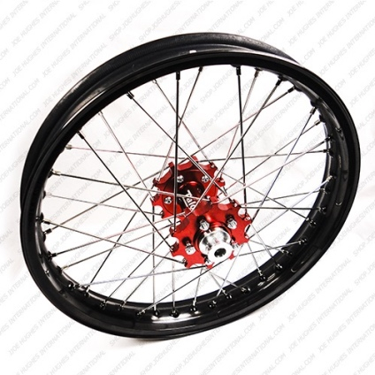 "19"" Rear GP Wheel with Black Rim & Red Hub"