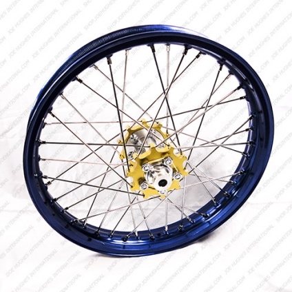 "19"" Rear GP Wheel with Blue Rim & Gold Hub"
