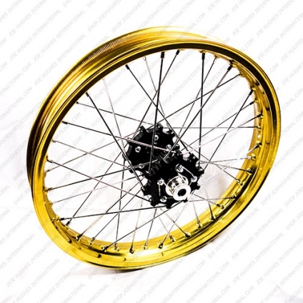 "19"" Rear GP Wheel with Gold Rim & Black Hub"