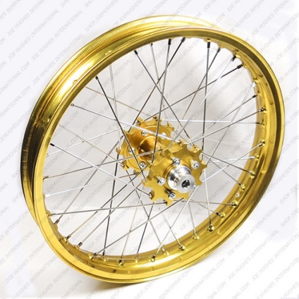 "19"" Rear GP Wheel with Gold Rim & Gold Hub"