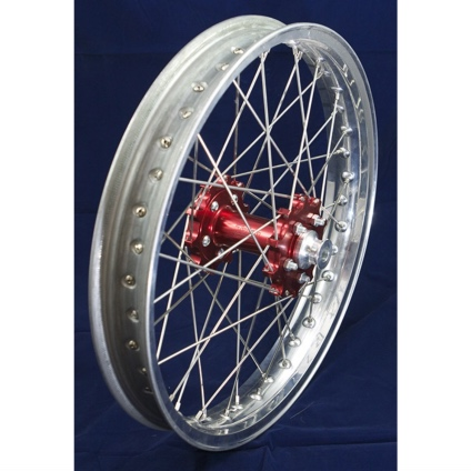 "19"" Rear GP Wheel with Silver Rim & Red Hub"