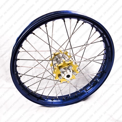 "19"" Rear STD Wheel with Blue Rim & Gold Hub"