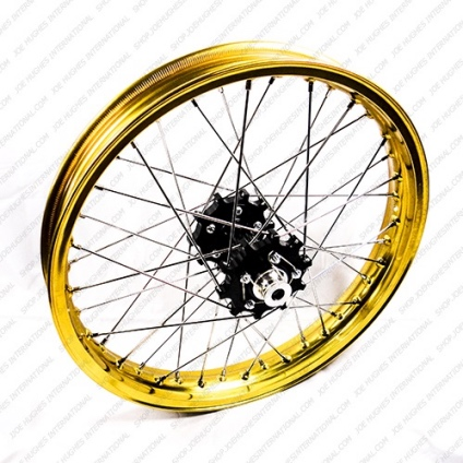 "19"" Rear STD Wheel with Gold Rim & Black Hub"